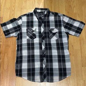 Burnside short sleeve plaid shirt